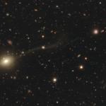 A dwarf galaxy being disrupted