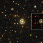 July 2016: A nearly complete Einstein ring. The inset shows the image from SDSS. Note the superb image quality of the HSC data.