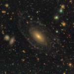 August 2016: An elliptical galaxy with blue spiral arms. The arms are not detected in GALEX, which may suggest that the accretion induced star formation is over.