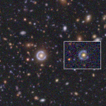 June 2020: Another revised image from the previous picture of the month. Thanks to the data acquired over the last years, the image now looks deeper. The inset image is the original discovery image from SDSS for comparison.